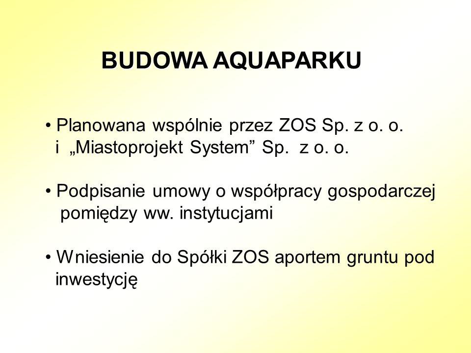 BUDOWA AQUAPARKU Planowana wspólnie przez ZOS Sp. z o.