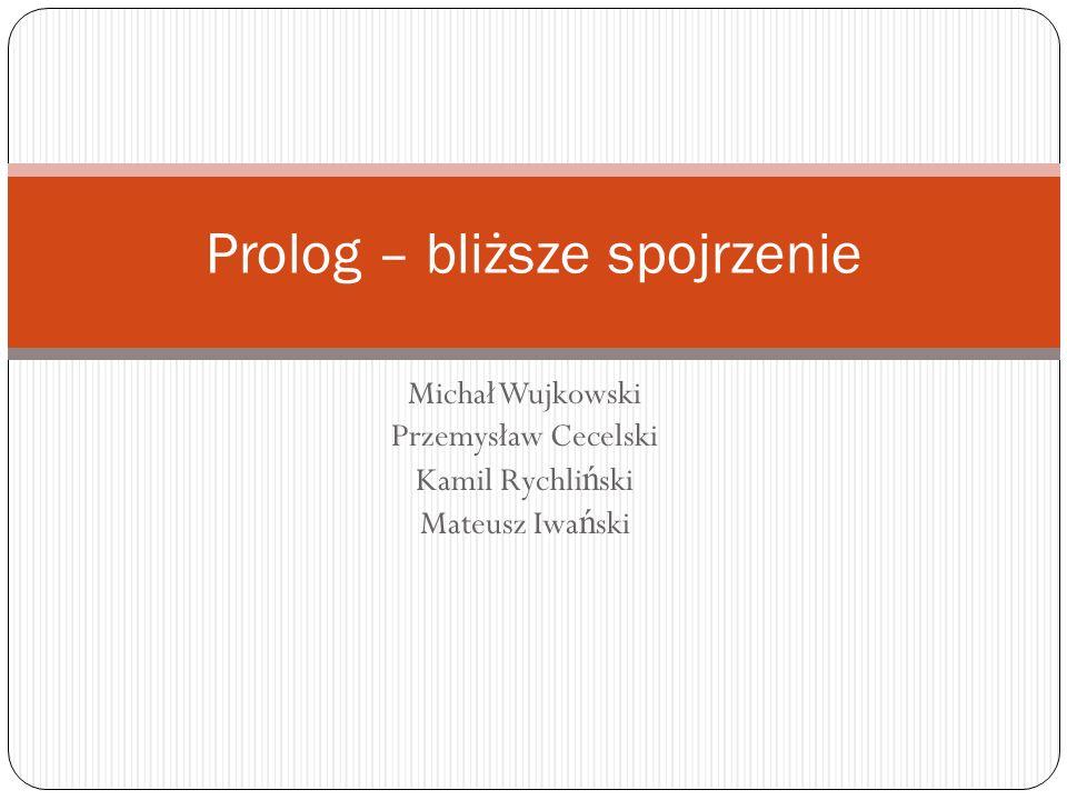 Michał Wujkowski Przemysław Cecelski Kamil Rychli ń ski Mateusz Iwa ń ski Prolog – bliższe spojrzenie