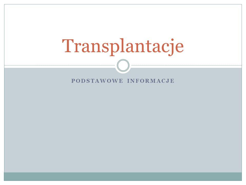 PODSTAWOWE INFORMACJE Transplantacje