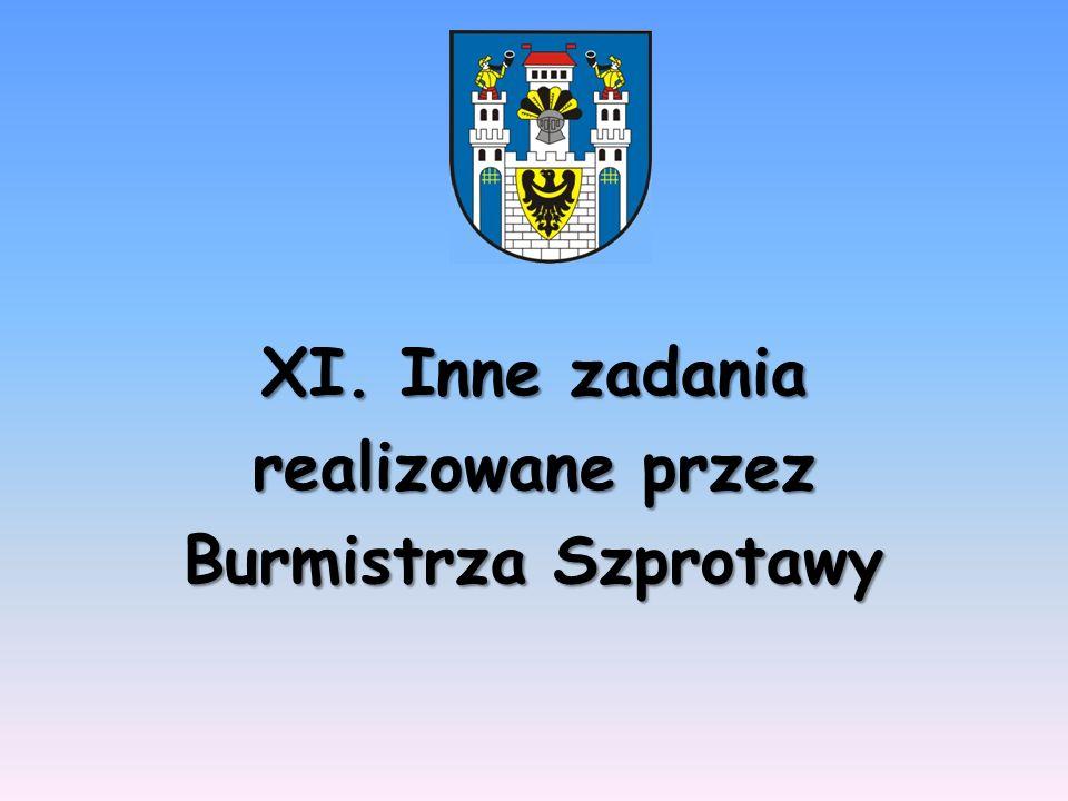 XI. Inne zadania realizowane przez Burmistrza Szprotawy