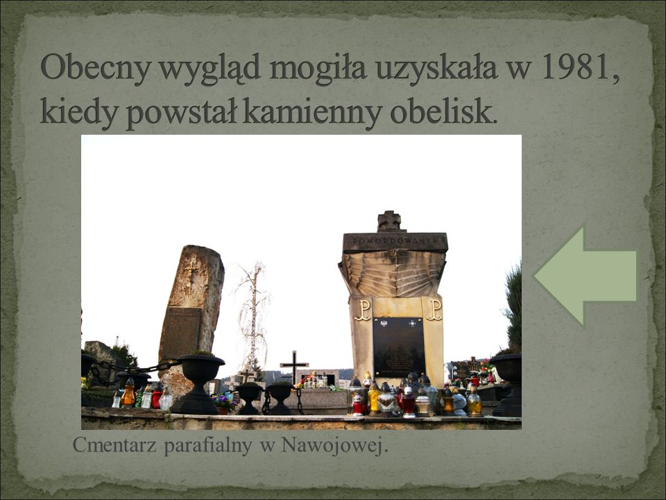 Cmentarz parafialny w Nawojowej.