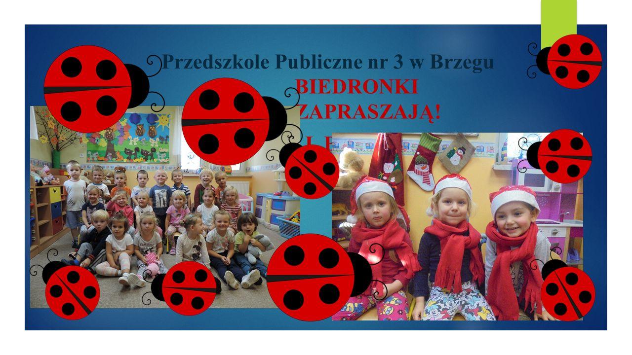 Przedszkole Publiczne nr 3 w Brzegu DZIEŃ OTWARTY W PRZEDSZKOLU PUBLICZNYM NR 3 W BRZEGU ZAPRASZAMY PRZYSZŁYCH PRZEDSZKOLAKÓW ORAZ RODZICÓW DO NASZEGO