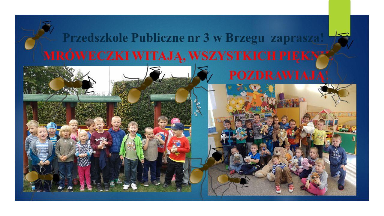 Przedszkole Publiczne nr 3 w Brzegu zaprasza! MRÓWECZKI WITAJĄ, WSZYSTKICH PIĘKNIE POZDRAWIAJĄ!