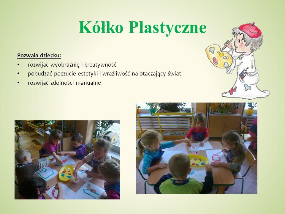 Kółko Plastyczne Pozwala dziecku: rozwijać wyobraźnię i kreatywność pobudzać poczucie estetyki i wrażliwość na otaczający świat rozwijać zdolności manualne