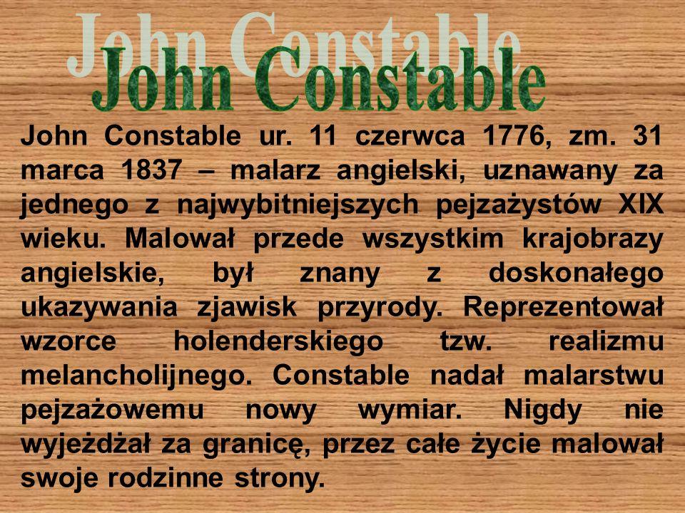 John Constable ur.11 czerwca 1776, zm.
