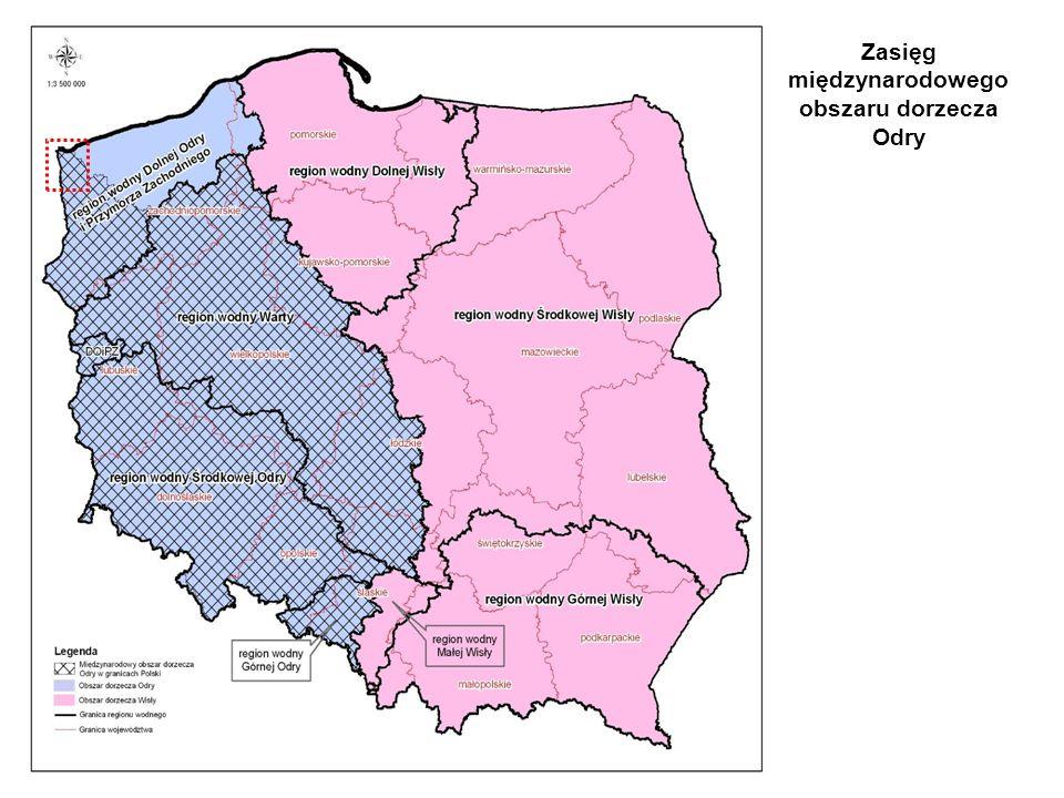 Zasięg międzynarodowego obszaru dorzecza Odry