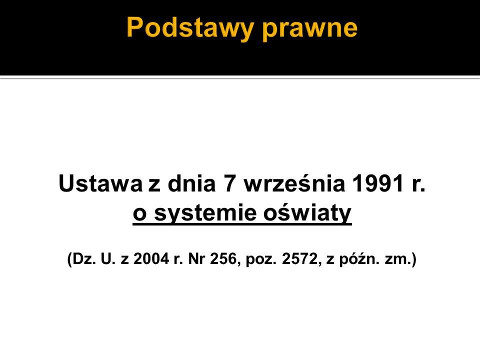 Ustawa z dnia 7 września 1991 r. o systemie oświaty (Dz.