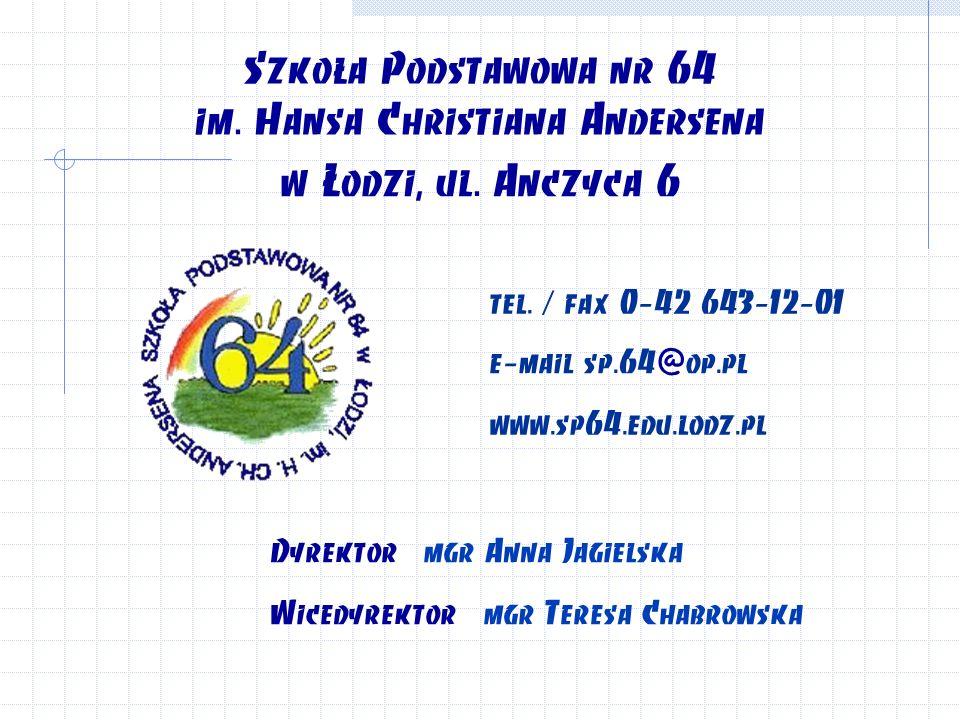 Szkoła Podstawowa nr 64 im. Hansa Christiana Andersena w Łodzi, ul.