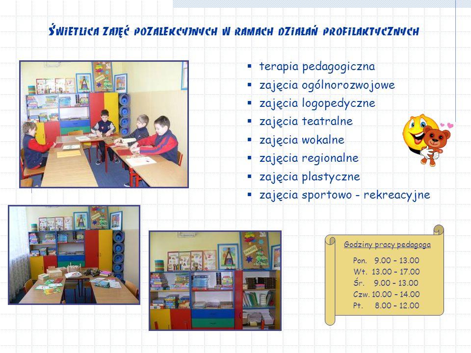 Godziny pracy pedagoga Pon. 9.00 – 13.00 Wt. 13.00 – 17.00 Śr.