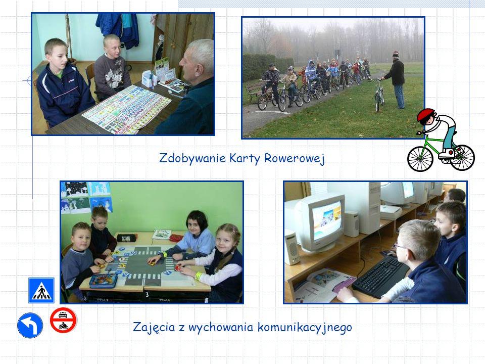 Zajęcia z wychowania komunikacyjnego Zdobywanie Karty Rowerowej