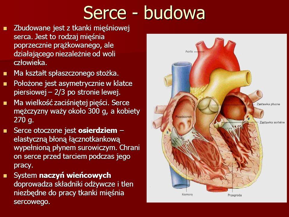 Zbudowane jest z tkanki mięśniowej serca.