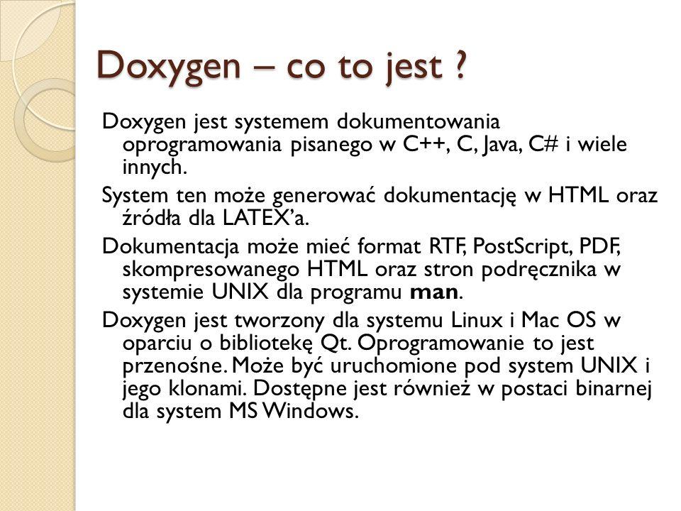 Doxygen – co to jest .
