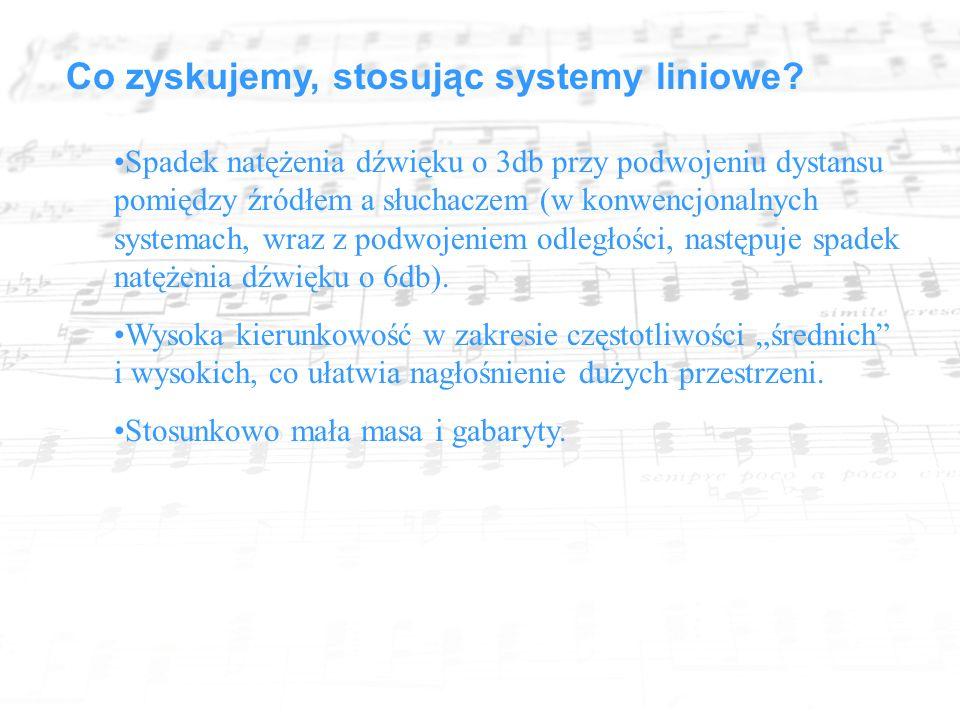 Co zyskujemy, stosując systemy liniowe.