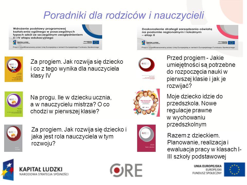 Poradniki dla rodziców i nauczycieli Za progiem.