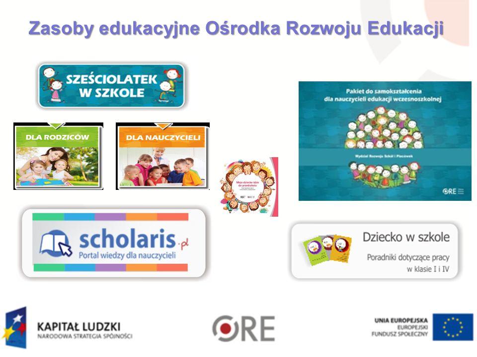 Zasoby edukacyjne Ośrodka Rozwoju Edukacji