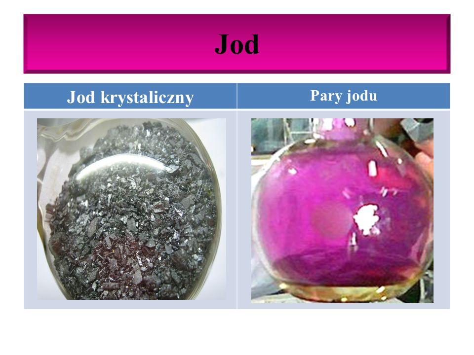 Jod Właściwości chemiczne jodu: W podwyższonej temp.