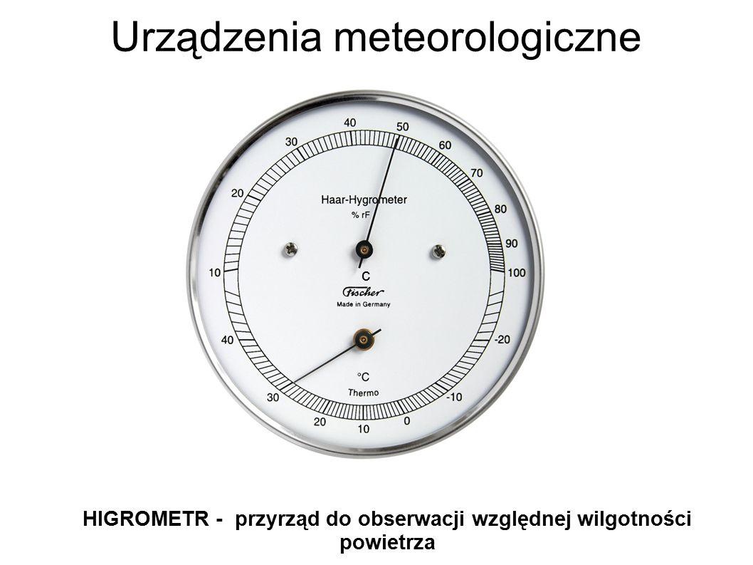 Urządzenia meteorologiczne HIGROMETR - przyrząd do obserwacji względnej wilgotności powietrza c