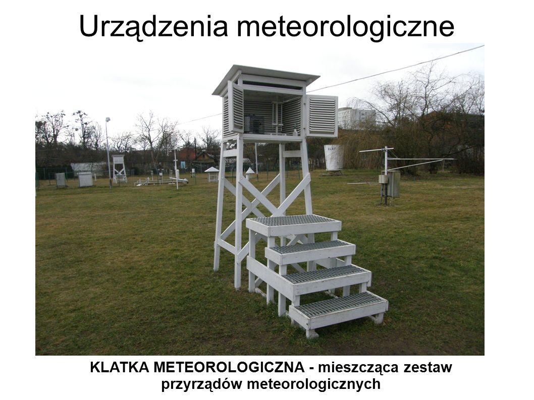Urządzenia meteorologiczne KLATKA METEOROLOGICZNA - mieszcząca zestaw przyrządów meteorologicznych