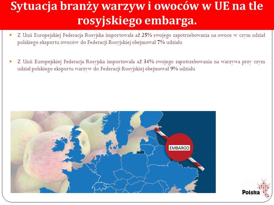 Sytuacja branży warzyw i owoców w UE na tle rosyjskiego embarga.
