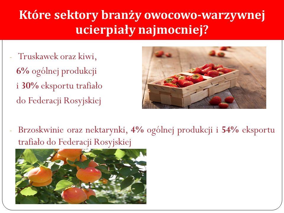 Które sektory branży owocowo-warzywnej ucierpiały najmocniej.