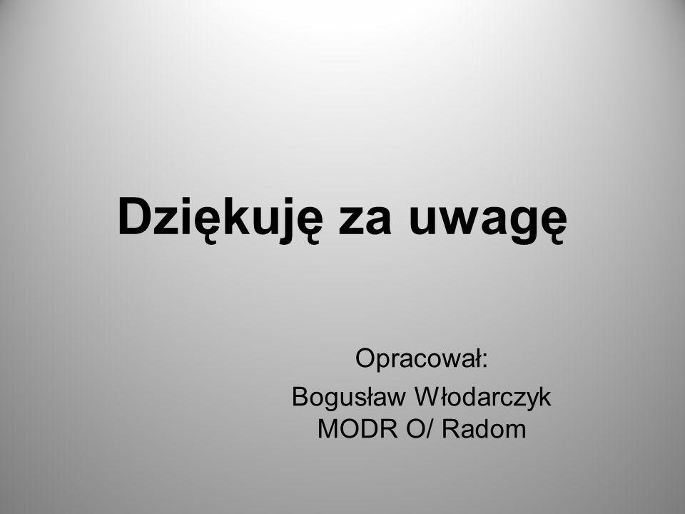 Dziękuję za uwagę Opracował: Bogusław Włodarczyk MODR O/ Radom