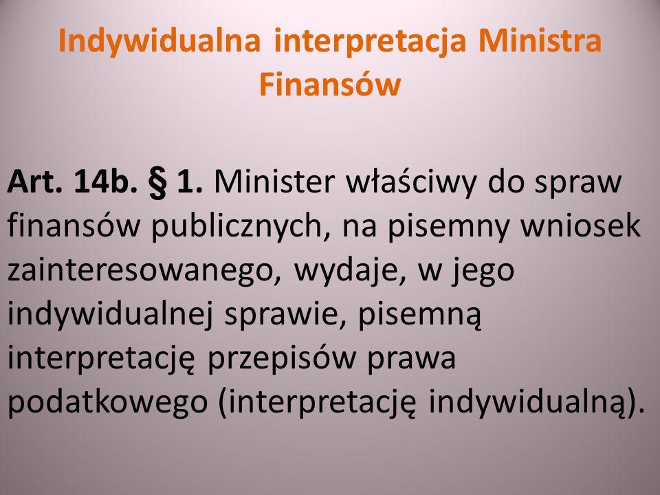 Skutki niewydania interpretacji w terminie Art.14o.