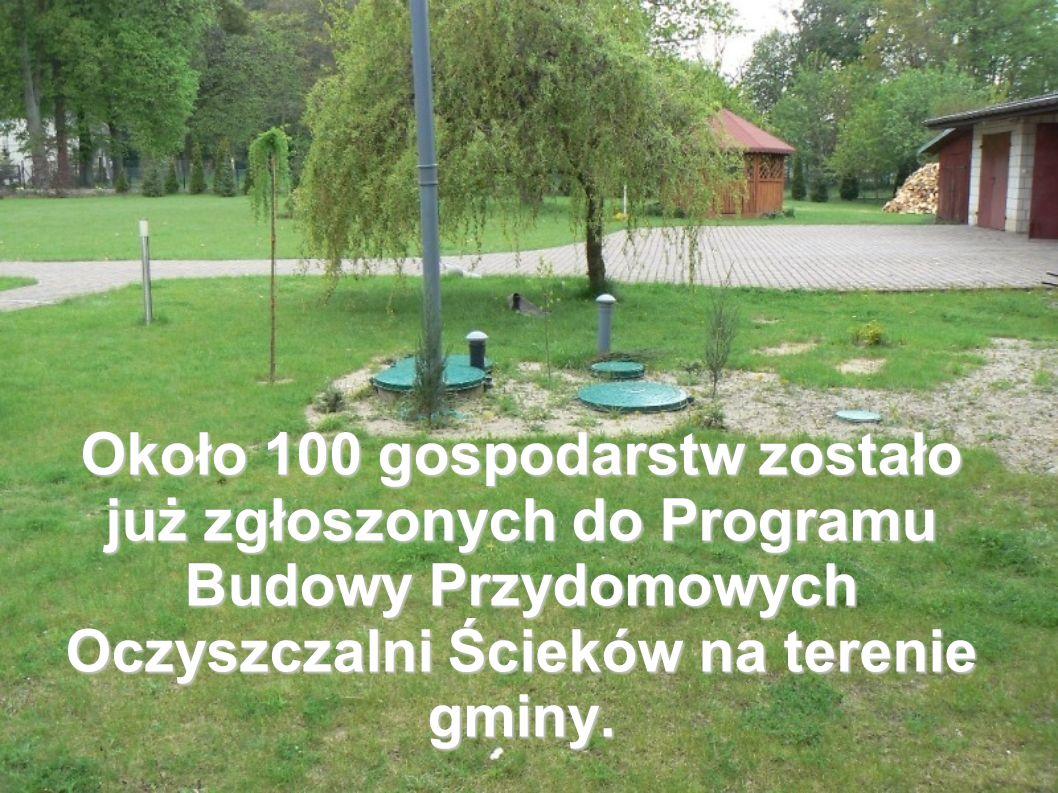 Około 100 gospodarstw zostało już zgłoszonych do Programu Budowy Przydomowych Oczyszczalni Ścieków na terenie gminy.