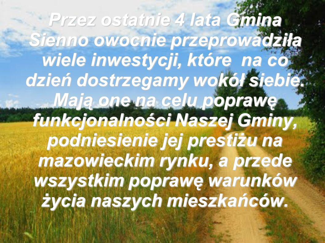 Budowa i renowacja gminnych dróg asfaltowych.