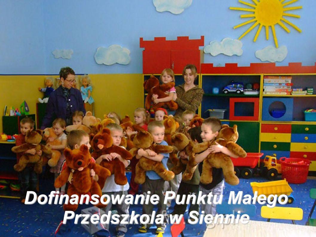 Dofinansowanie Punktu Małego Przedszkola w Siennie