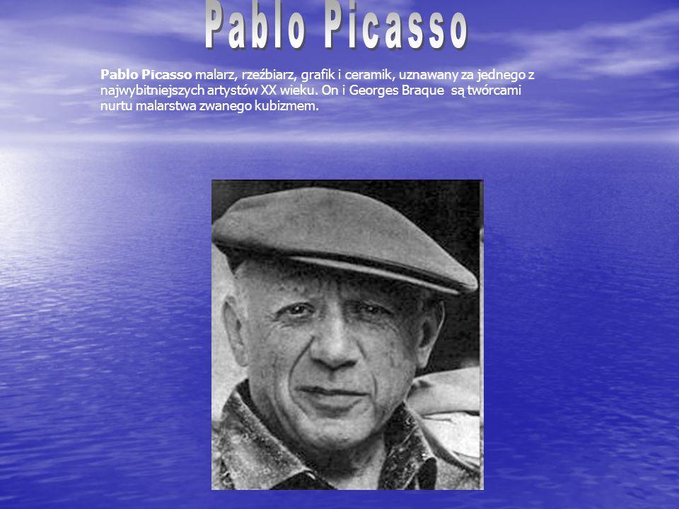 Pablo Picasso malarz, rzeźbiarz, grafik i ceramik, uznawany za jednego z najwybitniejszych artystów XX wieku.
