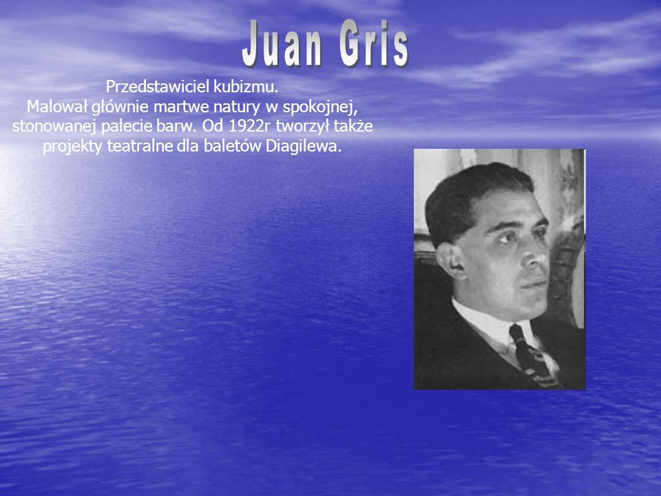 Przedstawiciel kubizmu.Malował głównie martwe natury w spokojnej, stonowanej palecie barw.