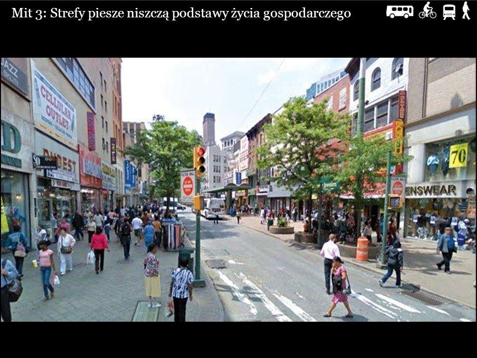 Mit 3: Strefy piesze niszczą podstawy życia gospodarczego
