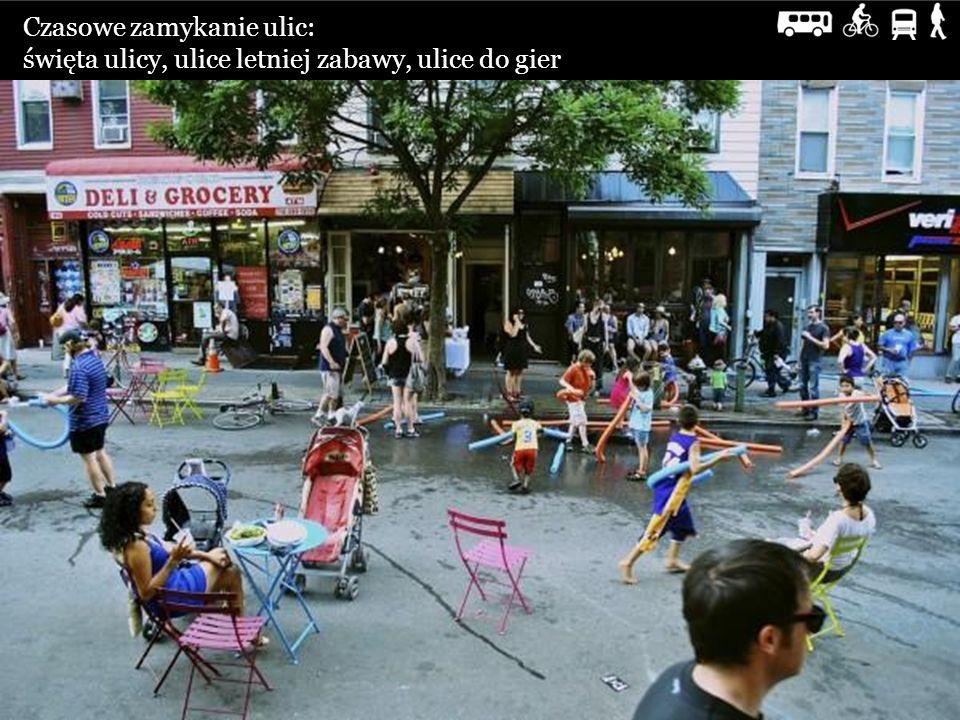 Czasowe zamykanie ulic: święta ulicy, ulice letniej zabawy, ulice do gier