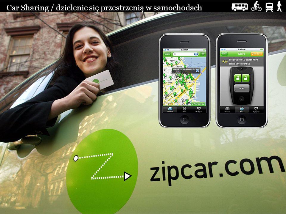 Car Sharing / dzielenie się przestrzenią w samochodach