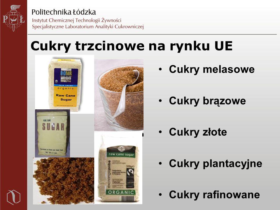 Cukry trzcinowe na rynku UE Cukry melasowe Cukry brązowe Cukry złote Cukry plantacyjne Cukry rafinowane