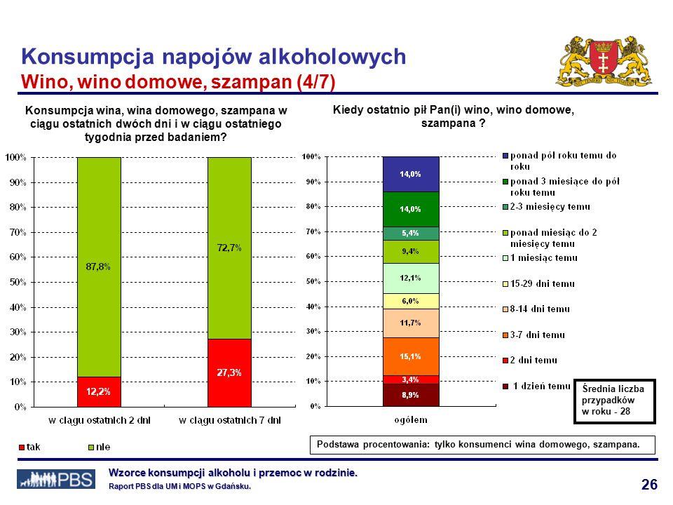 26 Wzorce konsumpcji alkoholu i przemoc w rodzinie.