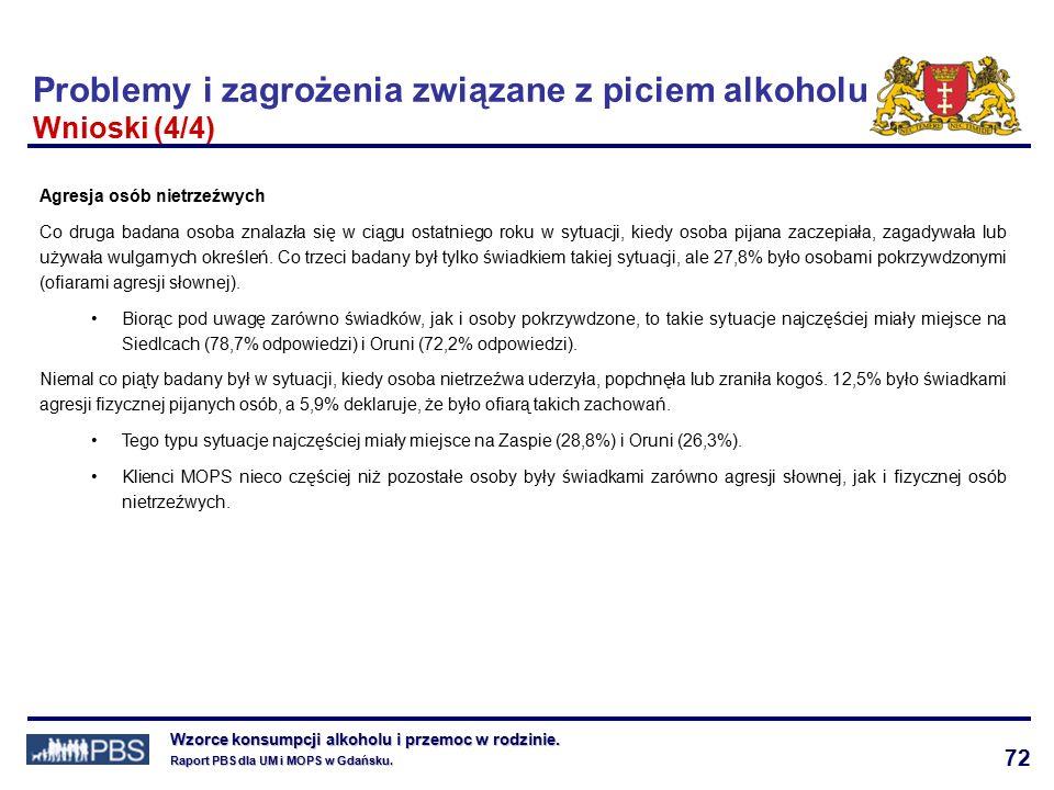 72 Wzorce konsumpcji alkoholu i przemoc w rodzinie.