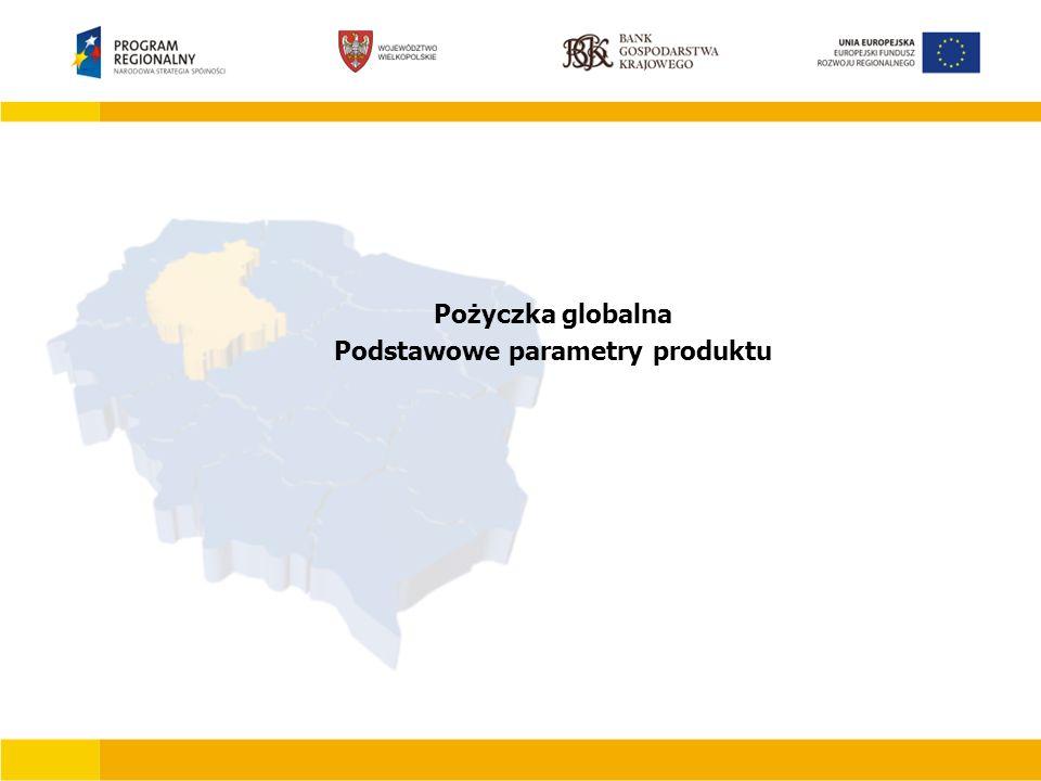 Pożyczka globalna Podstawowe parametry produktu