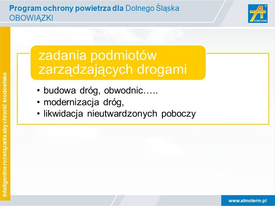 www.atmoterm.pl Inteligentne rozwiązania aby chronić środowisko budowa dróg, obwodnic…..