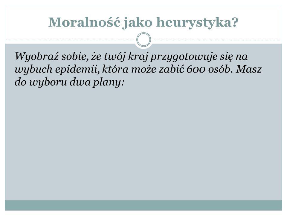 Moralność jako heurystyka.