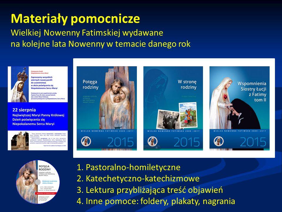Materiały pomocnicze Wielkiej Nowenny Fatimskiej wydawane na kolejne lata Nowenny w temacie danego rok 1.