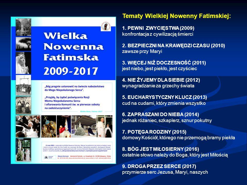 Tematy Wielkiej Nowenny Fatimskiej: 1.
