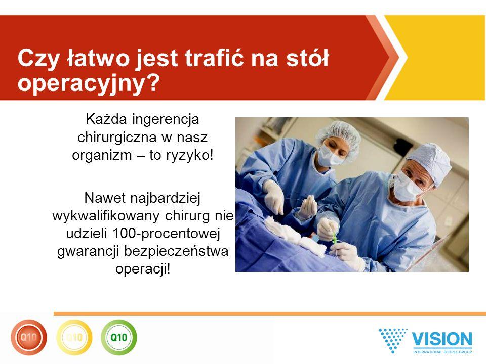 Każda ingerencja chirurgiczna w nasz organizm – to ryzyko! Nawet najbardziej wykwalifikowany chirurg nie udzieli 100-procentowej gwarancji bezpieczeńs