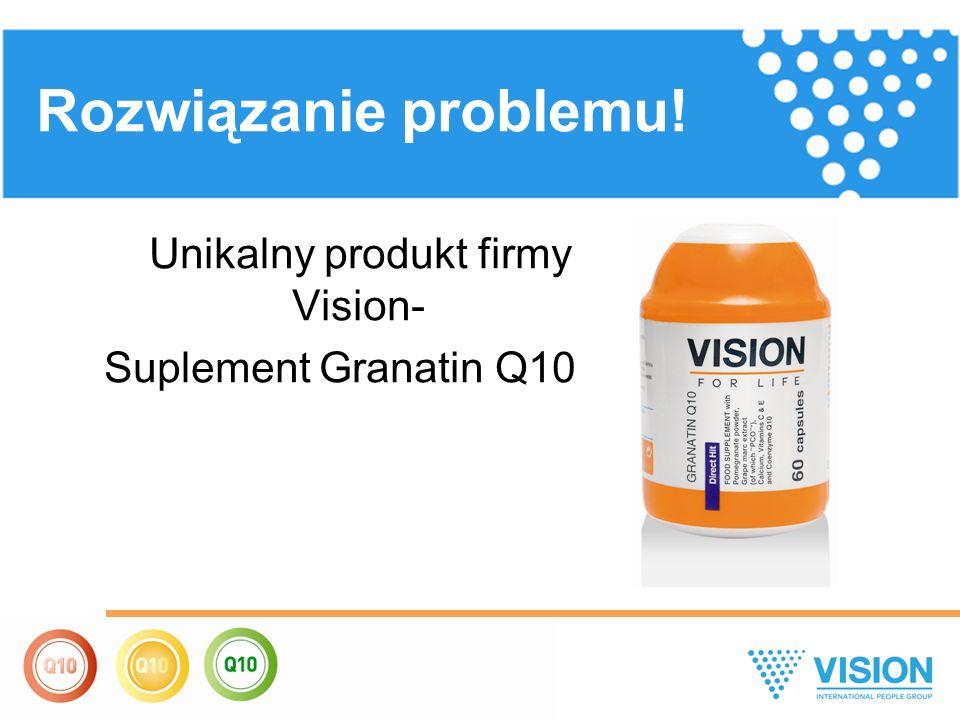 Unikalny produkt firmy Vision- Suplement Granatin Q10 Rozwiązanie problemu!