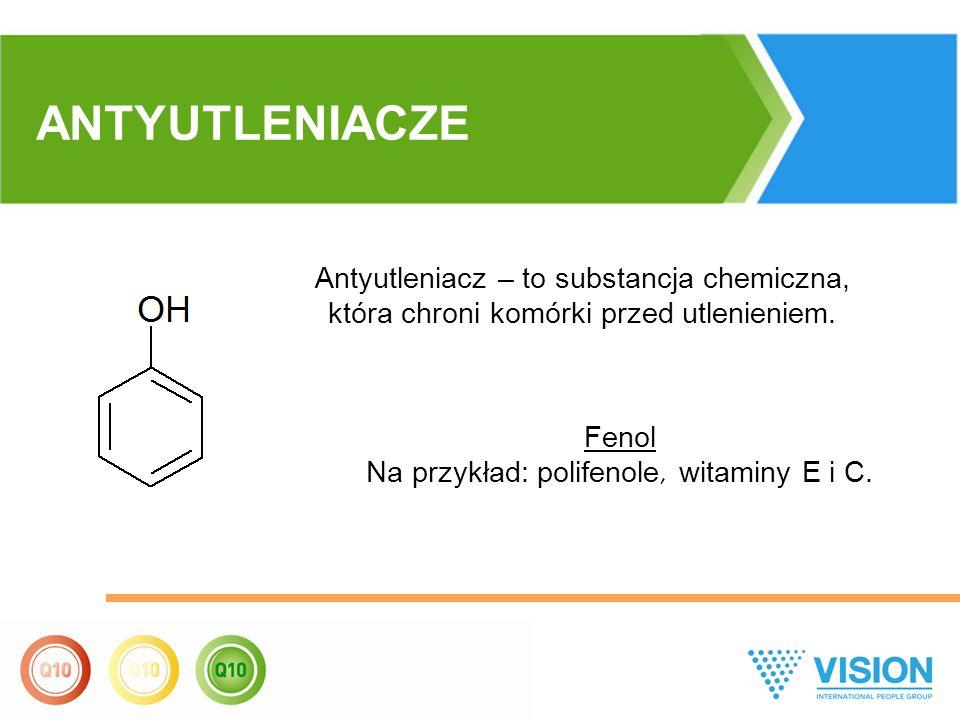 Antyutleniacz – to substancja chemiczna, która chroni komórki przed utlenieniem. Fenol Na przykład: polifenole, witaminy Е i С. ANTYUTLENIACZE