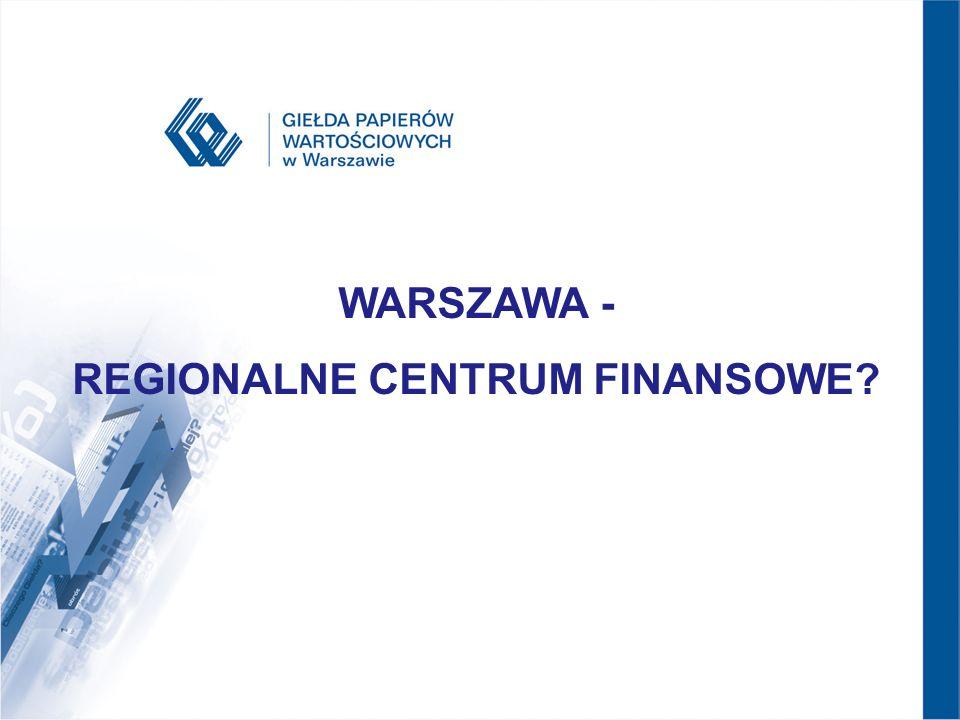 2 Wspomnień czar……… … Misją państwa na rynku kapitałowym w Polsce jest stworzenie warunków dla rozwoju taniego, efektywnego i bezpiecznego mechanizmu konwersji oszczędności społeczeństwa w krajowe inwestycje i finansowanie krajowych przedsiębiorstw, w tym zwłaszcza małych i średnich, który to mechanizm poprzez wzrost roli rynku kapitałowego w gospodarce zapewniłby rozwój silnego regionalnego centrum finansowego.