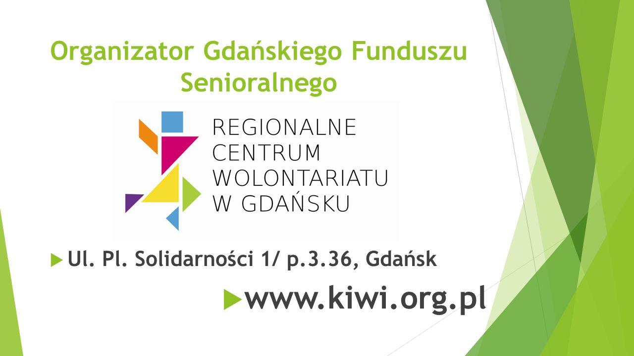 Projekt finansowany jest z Rządowego Programu na rzecz Aktywności Społecznej Osób Starszych na lata 2014-2020 oraz środków Gminy Miasta Gdańsk.