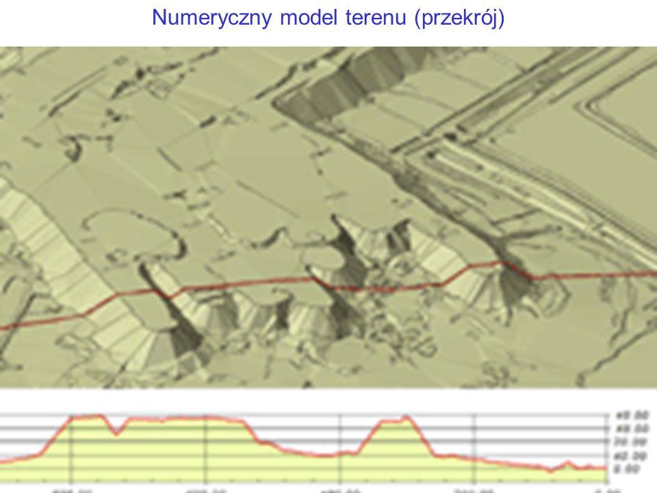 Numeryczny model terenu (przekrój)