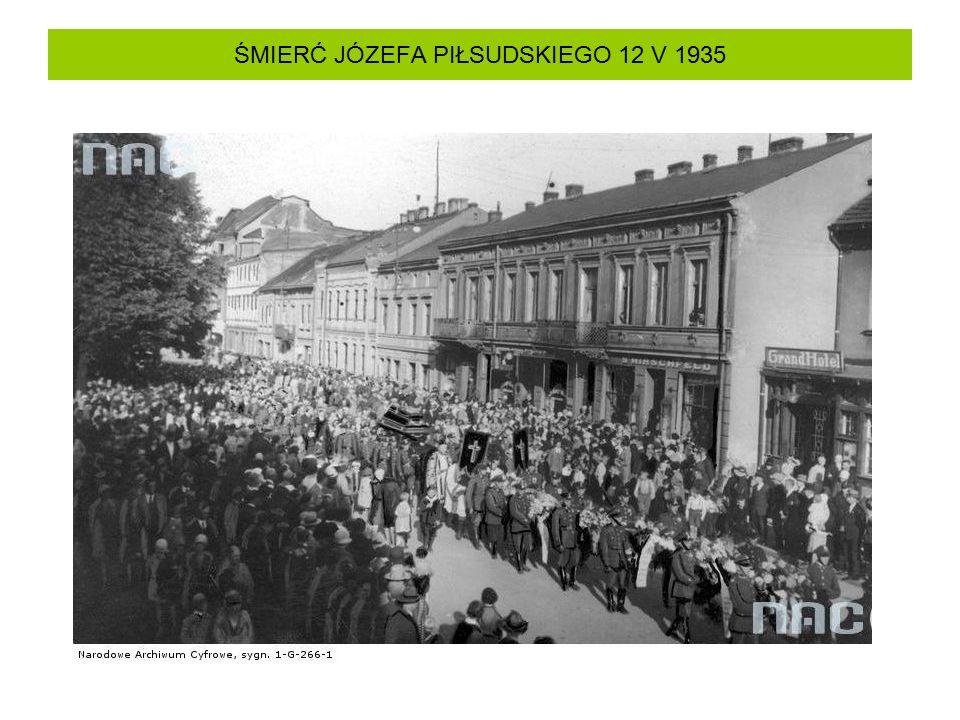 ŚMIERĆ JÓZEFA PIŁSUDSKIEGO 12 V 1935