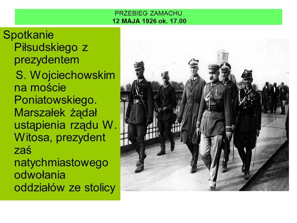 PRZEBIEG ZAMACHU 12 MAJA 1926 ok. 19.00 Załamanie pertraktacji i początek walk zbrojnych